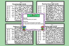 Are you looking for NO PREP literacy activities for preschool, kindergarten, or first grade? Then download this product and go!  Enjoy this reading resource which is comprised of EIGHT different SPRING themed color by the code SIGHT WORD activities.  Children will read beginning sight words while completing the activities.  ALL YOU NEED TO DO IS DOWNLOAD THE GAMES AND PROVIDE CRAYONS AND A PENCIL.