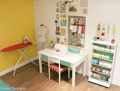 #papercraft #studio #craftroom Craft Room Reveal - FYNES DESIGNS