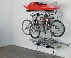 Kayak and Bike storage in the garage