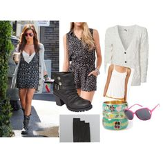 Ashley Tisdale Style Outfit #Ashley #Tisdale #Outfit #Style #Dress #Boots #Sweater