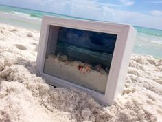 Ocean View Shadow Box to remember your summer vacation memories with sand and seashells straight from the beach.