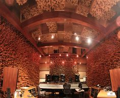 "Blackbird Recording Studio. The ""Stick Room"" achieves exceptional sound diffusion. (George Massenburg's mastering room)"
