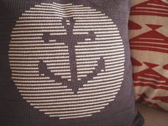 Anchor Cross Stitch Pattern PDF Pillow Cover by WallflowerCushions, $4.00