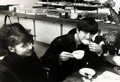 George Harrison having breakfast.