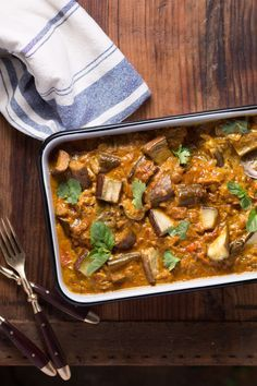 This spicy vegetarian eggplant curry makes a stunning main course. ≈≈★★★≈≈ P.S.: ARE YOU or your friends VEGAN(S)? Look at this vegan CUSTOM NAME SHIRTS and brand them with your (their) name(s). Great discounts available: https://shirtsheaven.com/vegan