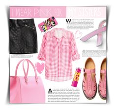 """I wear PINK for"" by dolly-valkyrie ❤ liked on Polyvore featuring Bling Jewelry, Victoria Beckham, Diane Von Furstenberg, Dr. Martens, H&M, THE POWERPUFF GIRLS, Maybelline, Old Navy and IWearPinkFor"