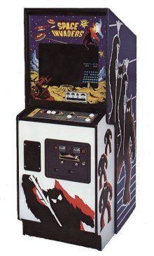 the original Space Invaders Arcade Game cabinet
