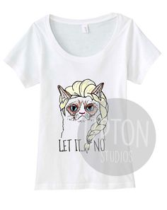 Hey, I found this really awesome Etsy listing at https://www.etsy.com/listing/213052641/grumpy-cat-elsa-frozen-womens-t-shirt