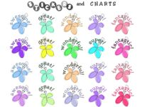 Free printable butterfly stickers, free butterfly sticker charts, and butterfly printables