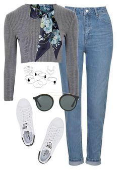 """""""Başlıksız #1292"""" by zeynep-yagmur ❤ liked on Polyvore featuring Topshop, Glamorous, Gucci, adidas Originals and Ray-Ban"""