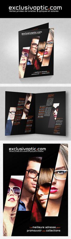 Client : EXCLUSIVOPTIC / ID-Shop / Création d'un logo et d'une plaquette, brochure / Graphiste freelance, illustrateur, webdesigner