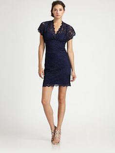 Nicole Miller - Lace Dress - Saks.com