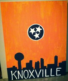Knoxville, TN. Tennessee Flag, Knoxville painting, Knoxville skyline