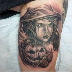 A little Halloween Piece by @natecooktattoo  If you❤️tattoos vist PublicINK.com - #publicink #tattoodatabase #tattoostudio #tattoo #tattoos #tattooed #tattoosociety #tattoofinder #findtattoos #tattooidea #tattooideas #tattoomagazine #tattoocommunity #tattooinspiration #ink #inked #inkmeup #inkedup #tattooartist #tattoogallery #inkstagram #tattoostudios #blackandgray #blackandgraytattoo #blackandgraytattoos #halloween #halloweentattoo #witch #witchtattoo
