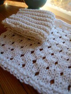 Eyelet Washcloth Pattern - Super easy