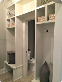 One last idea that I liked in this house – there wasn't really a big, dedicated mud room space, so they created one with very little square ...