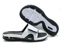 7c66d7b4961c Nike Air LeBron Slide White Black Sneakers Nike