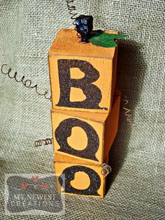 Set of 3 BOO Blocks. I found these on Pinterest, not sure who the original creator is!?