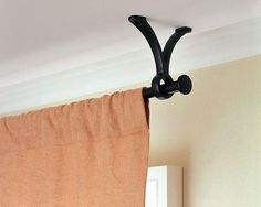 Living Area: Ceiling Mounted Curtain
