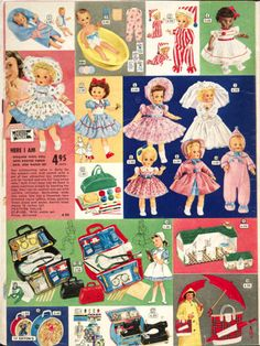 Toys from the Eaton's Christmas Catalogue p. Christmas Ad, Christmas Catalogs, Vintage Christmas, Vintage Paper Dolls, Antique Dolls, Vintage Advertisements, Vintage Ads, Toy Catalogs, Childhood Toys