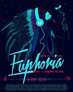 Euphoria Music & Camping Festival Poster by Seba Sebi on CreativeAllies.com