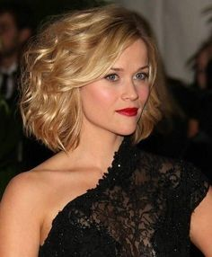 Celebrity Short Bob Hairstyle: Wavy Hairstyle for Heart Face Shape