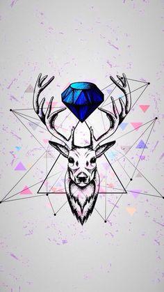 Imagen de deer, diamond, and wallpaper