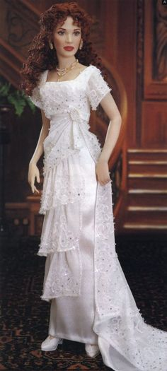 "Titanic Dolls | Reunited"" - a porcelain doll in the Heaven Gown"