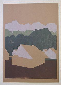 Josh Dannin Woodcut Print