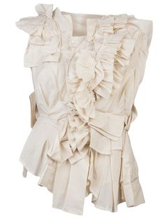 Layers, ruffles, textures - fabric manipulation ideas for fashion // Comme Des Garçons Blouse