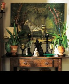 Tropical decor blending