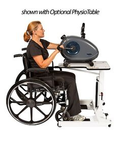 The PhysioTrainer is designed to be used on either a table top or on the floor as a leg exerciser.
