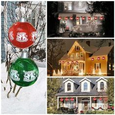 "Big Inflatable Christmas Ornaments - SET of 12 - Red by Big Sky Balloons. $99.00. Can be stored and reused next year. Decorate home and yard. Big outdoor Christmas ornament. AVAILABLE IN RED ONLY, Sold out of Green. Big inflatable holiday ornaments for decorating yard and home. Inflate with air and hang from shrubs, trees, or use indoors wherever you want to add a festive touch. Made of sturdy pvc, can be deflated and reused again next season. Size when inflated approx 12"". In..."