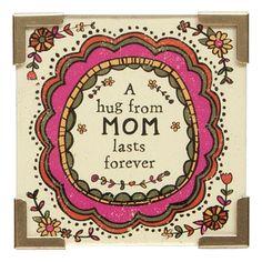 Corner Mag Hug Mom Frvr Pnk Flrl