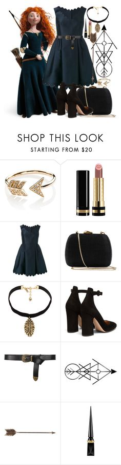 """°Merida - Brave°"" by catherinetabor ❤ liked on Polyvore featuring EF Collection, Gucci, Merida, RED Valentino, Serpui, Vanessa Mooney, Gianvito Rossi, Alberta Ferretti, Creative Co-op and Christian Louboutin"