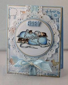 House Mouse Baby Card