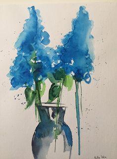 Original Aquarell Direkt von der Künstlerin Maße: 24 x 32 cm ( ca 9,5 Zoll x 12,6 Zoll ) Aquarell auf 200g/qm Papier verwendet werden ausschliesslich Künstlerfarben . Das Werk ist von der Künstlerin signiert. Die Lieferung erfolgt ohne Rahmen. Bitte beachten Sie das es durch