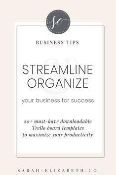 Are you ready to streamline & organize your business for success? Sign-up for my FREE Trello template library and get instant access to over 20 Trello board templates to maximize your productivity and get your business ready for success! Business tips - c Creative Business, Business Tips, Online Business, Business Entrepreneur, Business Accounting, Entrepreneur Ideas, Trello Templates, Business Templates, Library Signs