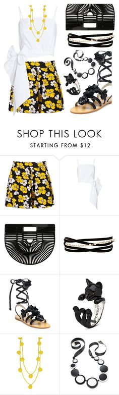 """Tory burch gladiators"" by ellenfischerbeauty ❤ liked on Polyvore featuring Boohoo, MDS Stripes, Cult Gaia, Kenneth Jay Lane, Tory Burch, Humble Chic and Kate Spade"