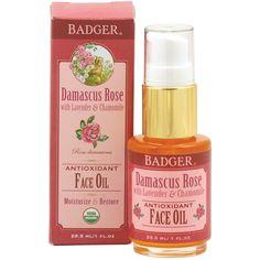 Badger Company, バジャーカンパニー, 抗酸化フェースオイル, サマスカスローズ ラベンダー