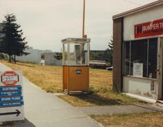 Yellow phone booth, and Bumper to Bumper Victoria Vancouver Island, North Vancouver, Telephone Booth, Photo Boards, Old Pictures, Vintage Photos, Purpose, Nostalgia, Phones