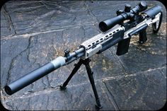 MOD 0 NATO Designated Marksman Rifle with EBR stock, Leupold power scope, and national match barrel & trigger.