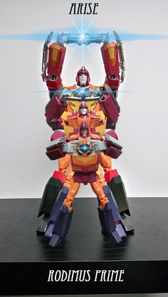 """Arise, Rodimus Prime."" - Transformers Masterpiece MP-09 Rodimus Convoy (Rodimus Prime) and MP-29 Hot Rodimus (Hot Rod)"