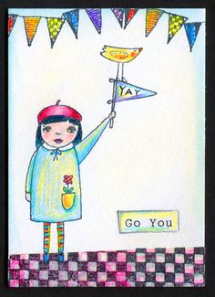 card made with RubberMoon stamp kp5000