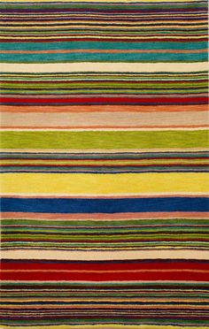 Inca Stripes Multi Rug from the Studio Rugs Collection IV collection at Modern Area Rugs