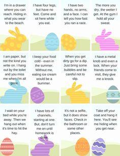 Scavenger Hunt Riddles, Easter Scavenger Hunt, Easter Activities For Kids, Easter Games, Easter Egg Hunt Clues, Easter Eggs, Easter Egg Hunt Ideas, Easter Riddles, Treasure Hunt Clues