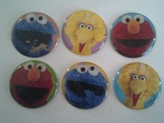 Party Favors, Sesame Street Inspired Bottle Caps, Cupcake Toppers, Zipper Pulls, Key Chains, Magnets, Hair Bows, Jewelry, Scrap Booking. by PartyFunForKids on Etsy
