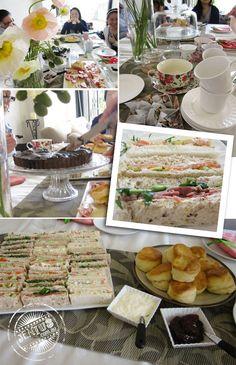 Hosting a kitchen tea - afternoon tea