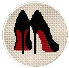 Instant Download,Free shipping,Cross stitch pattern, Cross-StitchPDF,high heel…