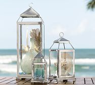 I love lanterns!!!  Think of all the stuff you can fill them with for the holidays!  Malta Lantern from Pottery Barn
